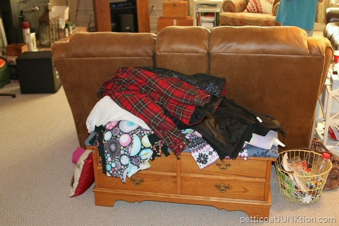 clutter after Christmas