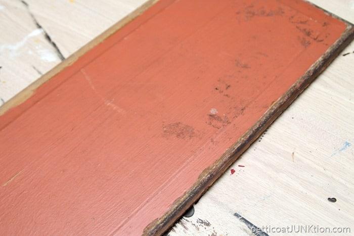 reclaimed wood door panel