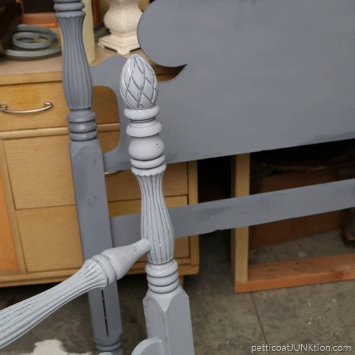 two gray paint colors for furniture makeover