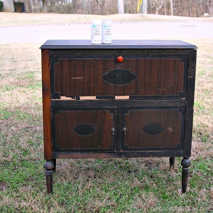 vintage radio cabinet project beverage cabinet