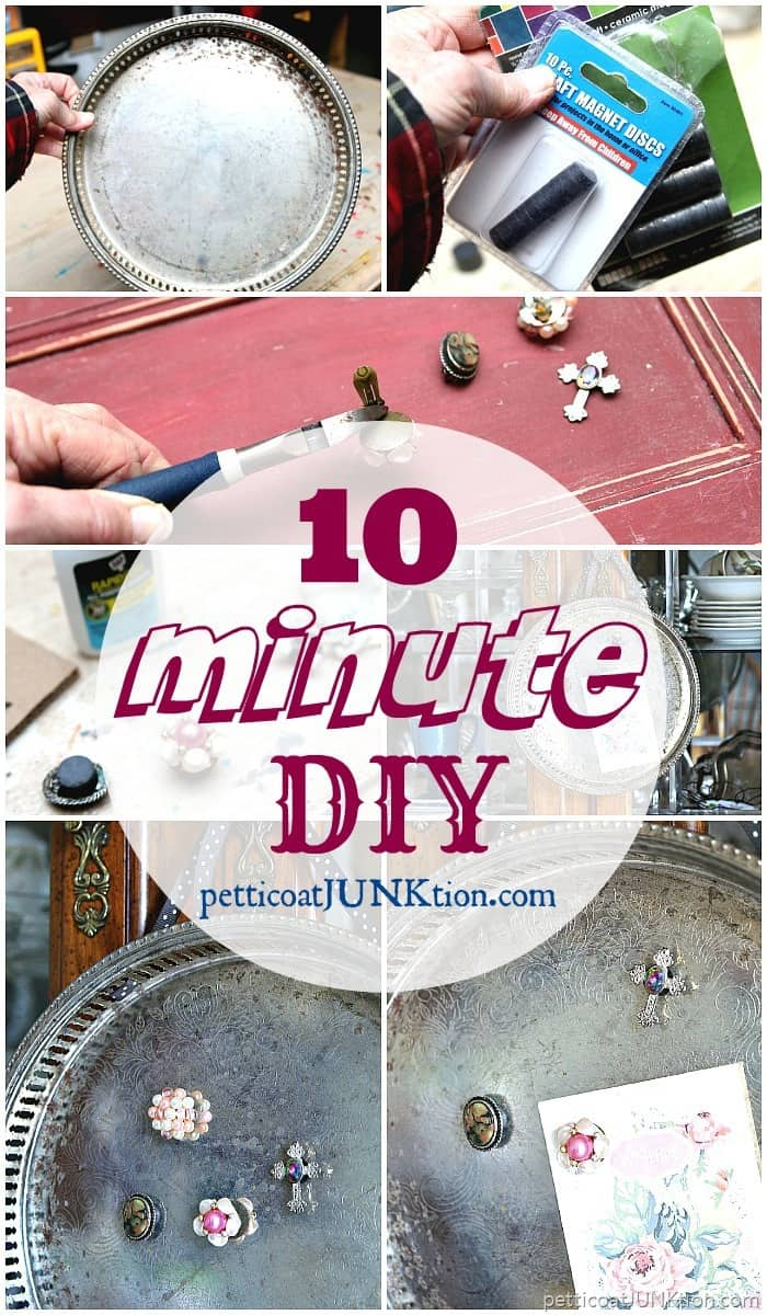 10 minute diy magnet serving tray with decorative magents