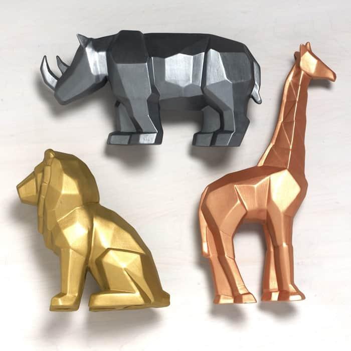 Brushed Metal Animal Art