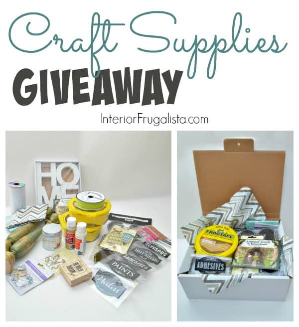 Craft Supplies Giveaway Graphic Interior Frugalista