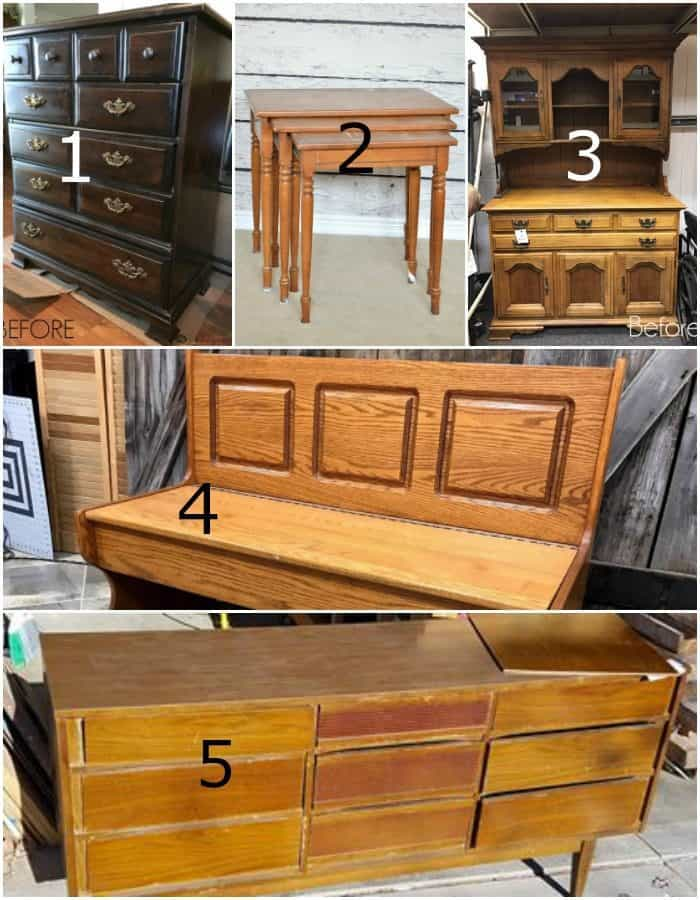 Furniture Fixer Uppers paint projects before photos