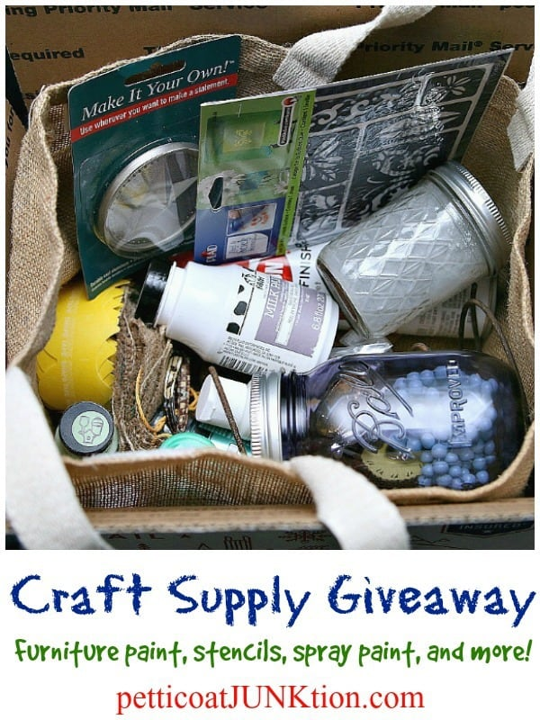 Get Crafty with this Craft Supply Giveaway that includes Furniture Paints Stencils and more