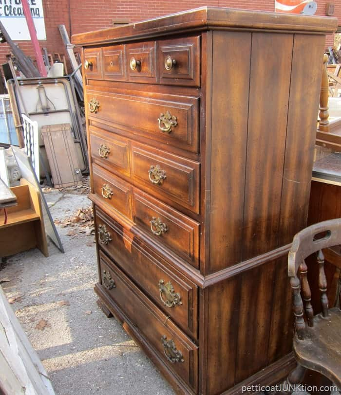 chest of drawers from my favorite junk shop needs repairs