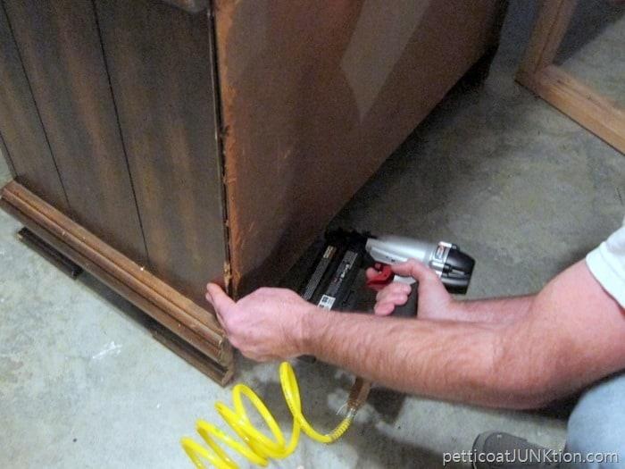 furniture repairs using nail gun