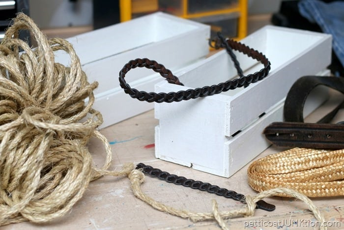more belts and ropes for handles