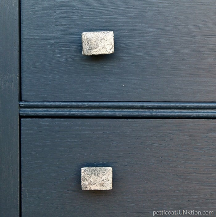 pretty knobs from Hobby Lobby look great against blue paint