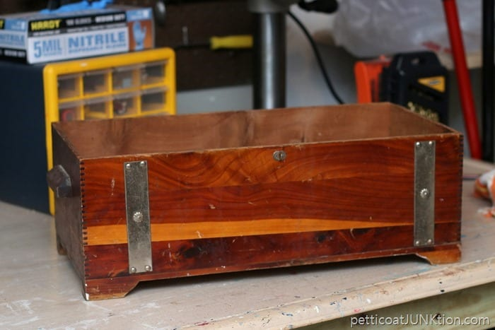 topless wood chest