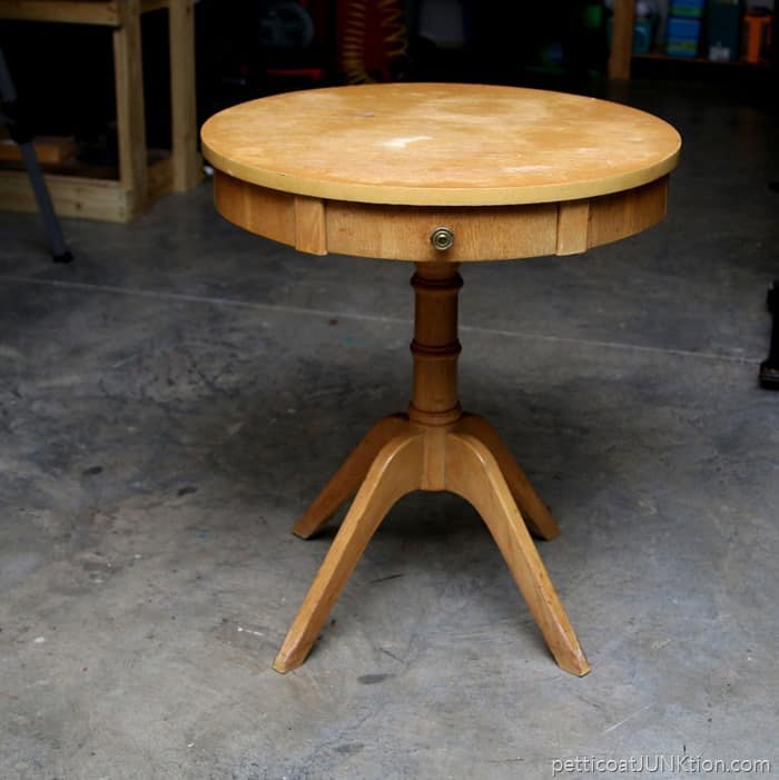 Vintage Blonde Furniture From The 1950s Drum Table