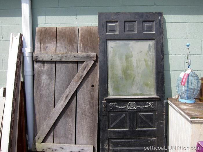 Antique doors at the Nashville Flea Market
