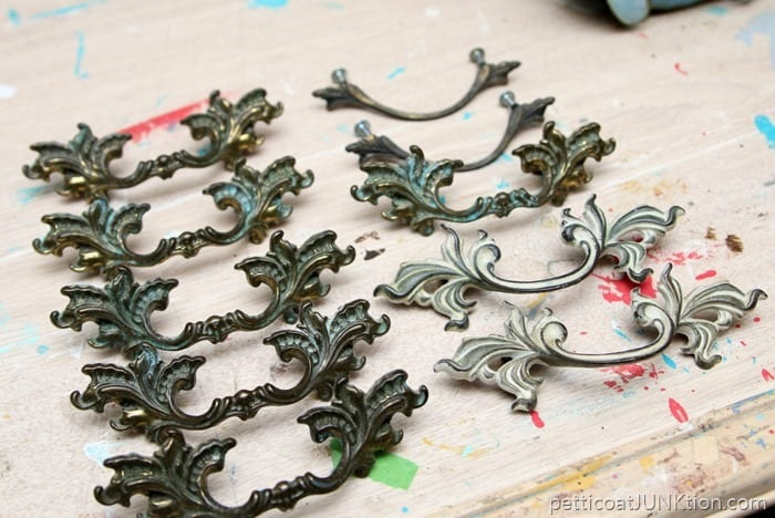 French Provincial Drawer Pulls from the Nashville Flea Market