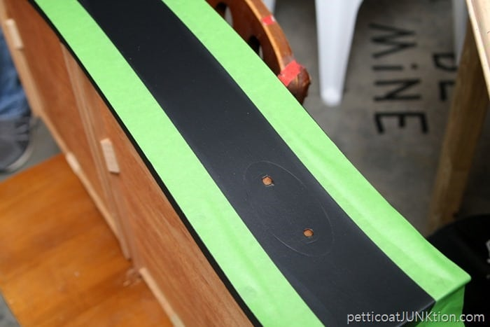 Frogtape for painting a stripe on furniture