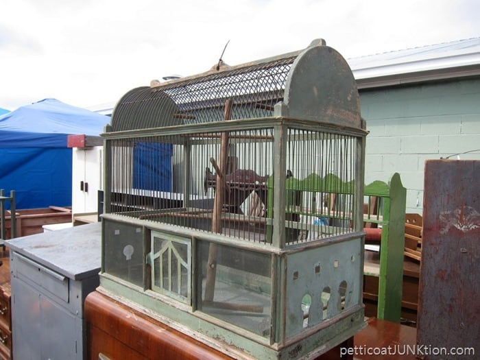 Large Bird Cage at the Nashville Flea Market in Music City