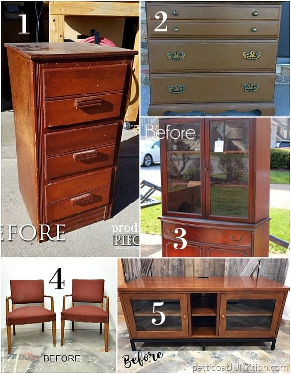 March Furniture Fixer Uppers projects before photos