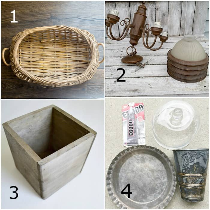 March Thrift Store Decor projects before makeover