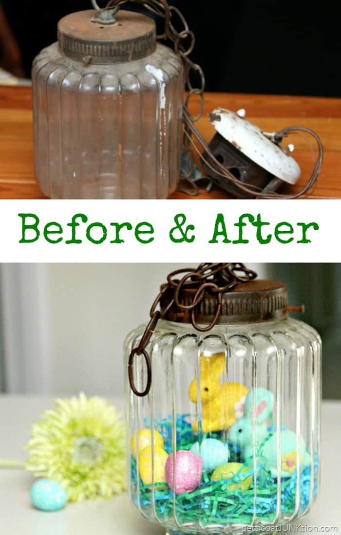 Repurpose a light fixture into decorative home decor