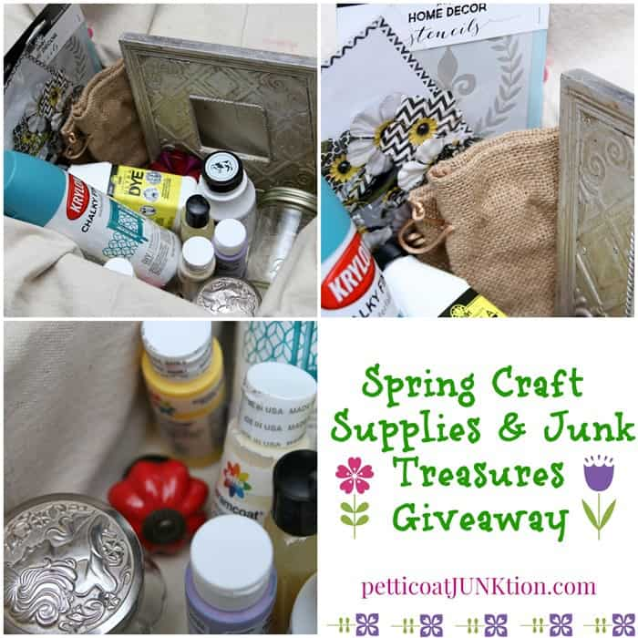 Spring Craft Supplies and Junk Treasures Giveaway from Petticoat Junktion