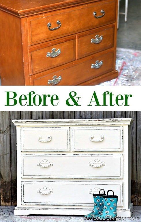 exciting white distressed painted furniture | The Simple Beauty of White Distressed Paint - Petticoat ...