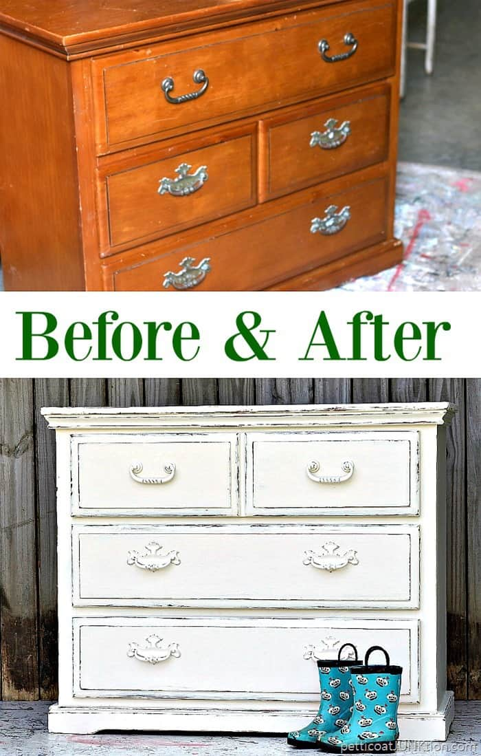 The simple beauty of white distressed paint petticoat junktion for Do people on fixer upper get to keep the furniture