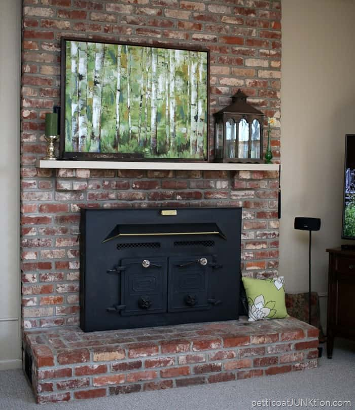 fireplace hearth and mantel makeover
