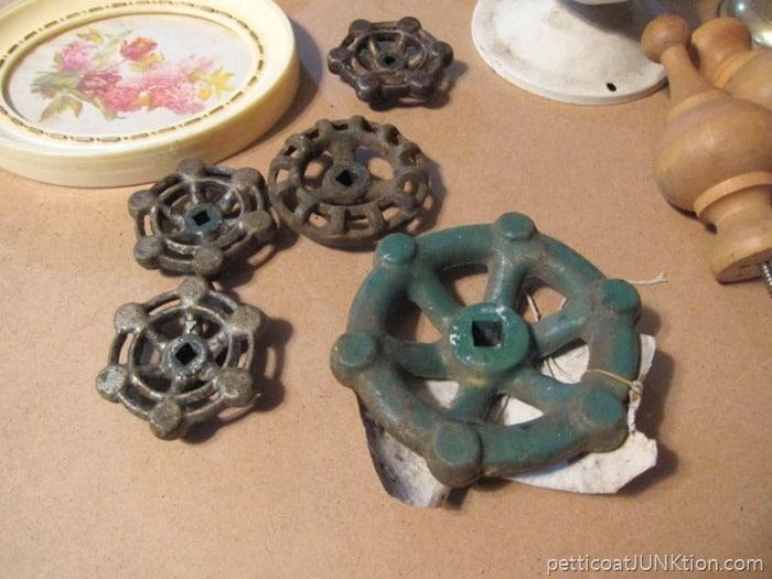 garden spigots for mixed media art