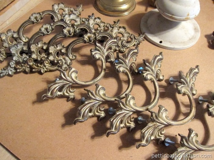 pretty drawer hardware French provincial pulls