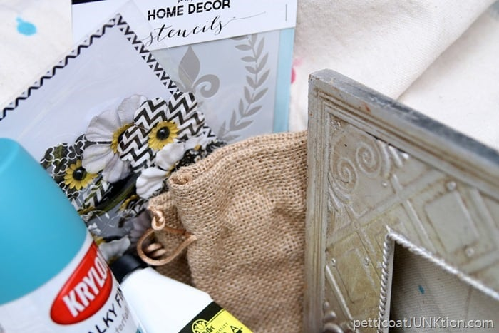 stencil and other supplies