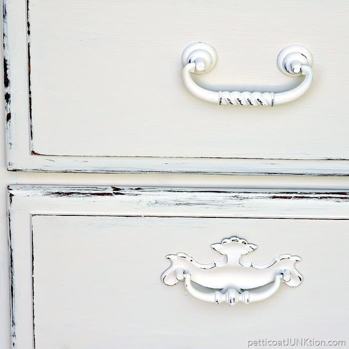 How To Distress White Furniture