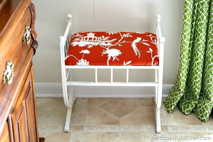 60 Minutes to update furniture with fabric and paint