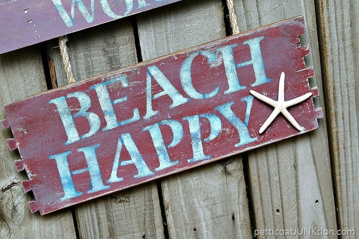 Beach Happy Sign Don't Worry