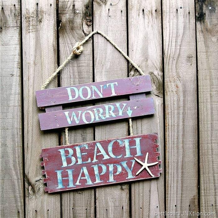 Beach Happy Sign