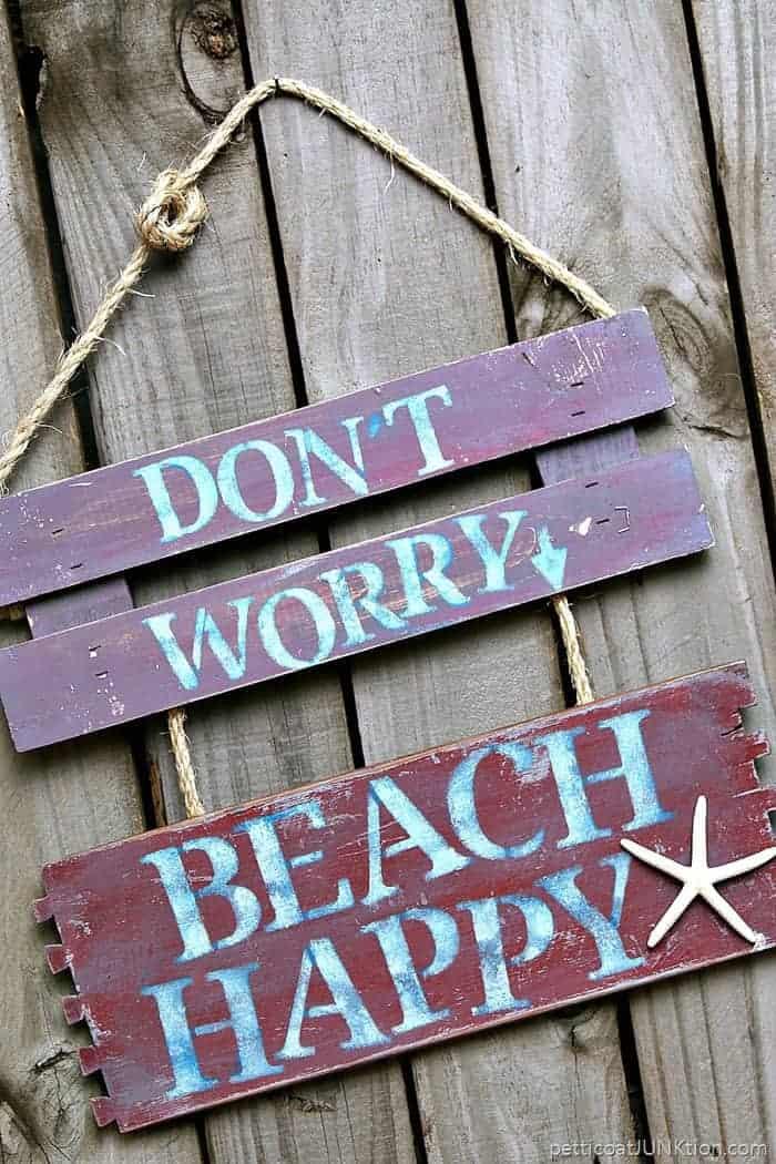 Beach Happy easy DIY sign