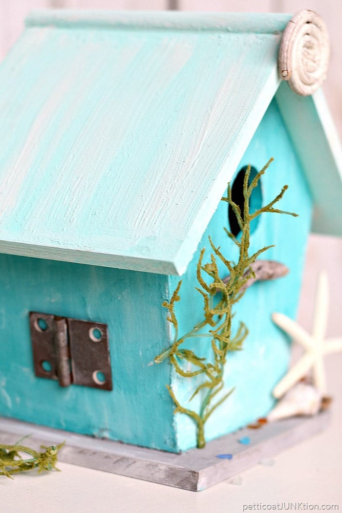 Birdhouse with junk trim