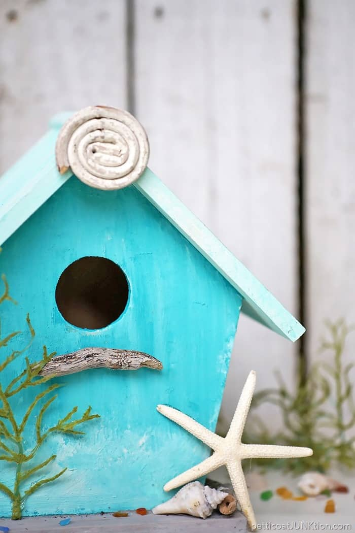 Colorful Turquoise Beach Lover Birdhouse