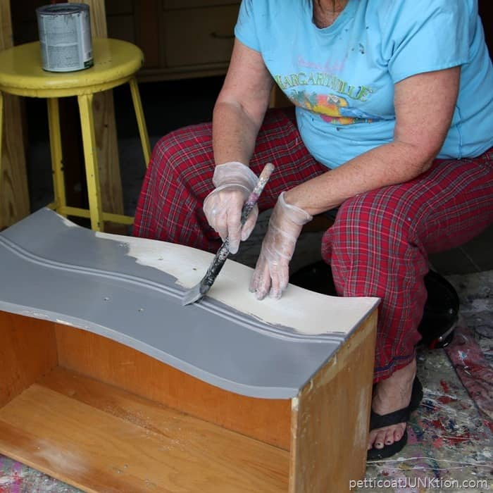 Gliddern Gripper primer tinted gray for painting furniture projects