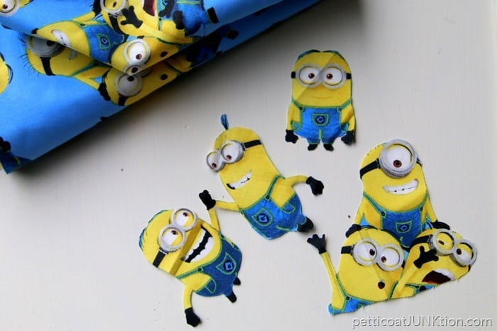 Minions Fabric for decoupage project