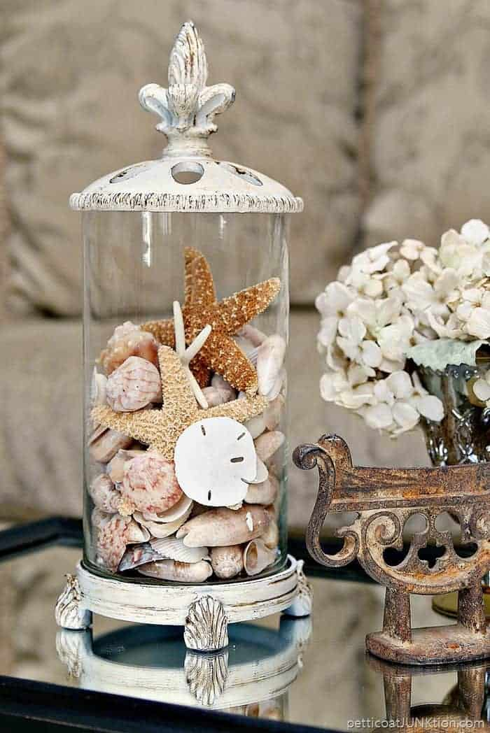 Thrifty Seashell Container Idea | Thrift Store Decor