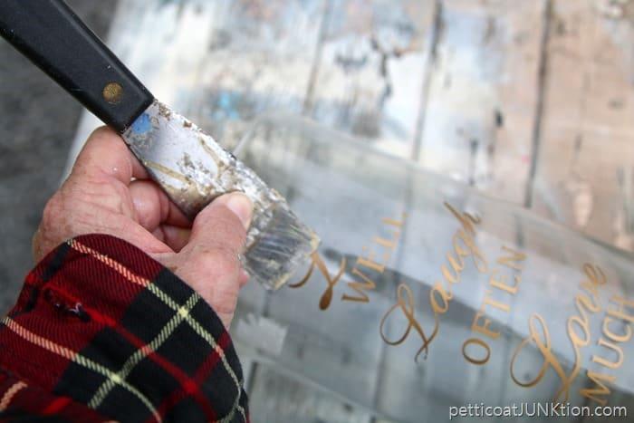 Removing Gold Foil Lettering