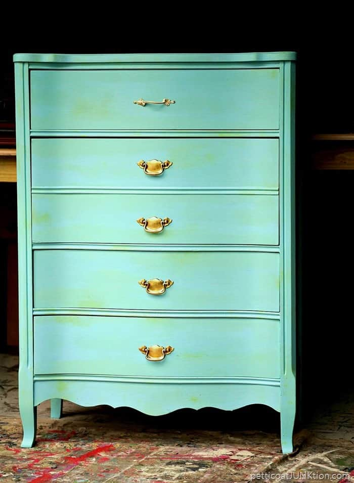 Turquoise furniture with a touch of green