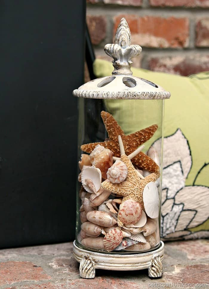 Update A Thrift Store Container and add seashells 2