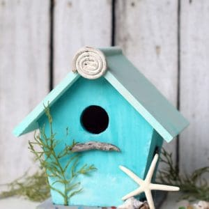 Beach Lover Birdhouse Project: Coastal Paint In Ocean Colors