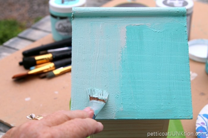 blending Coastal Textured Paints