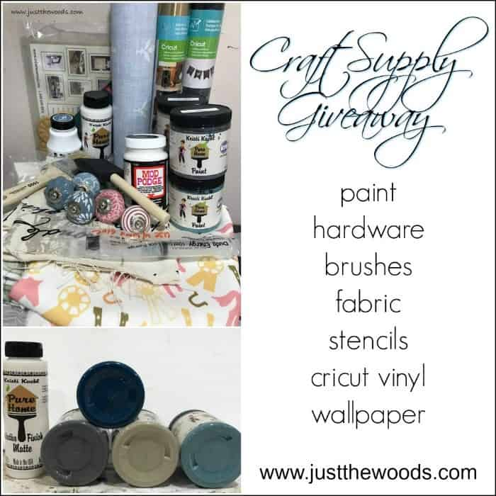 craft giveaway from Just The Woods