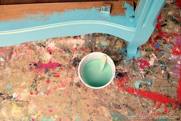 pale green paint wash