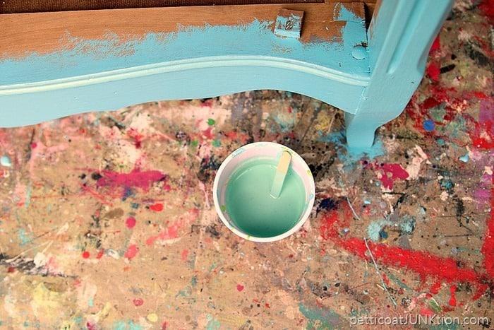 pale green paint wash