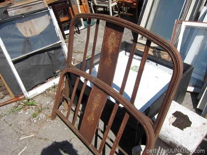 rusty iron bed from the junk shop