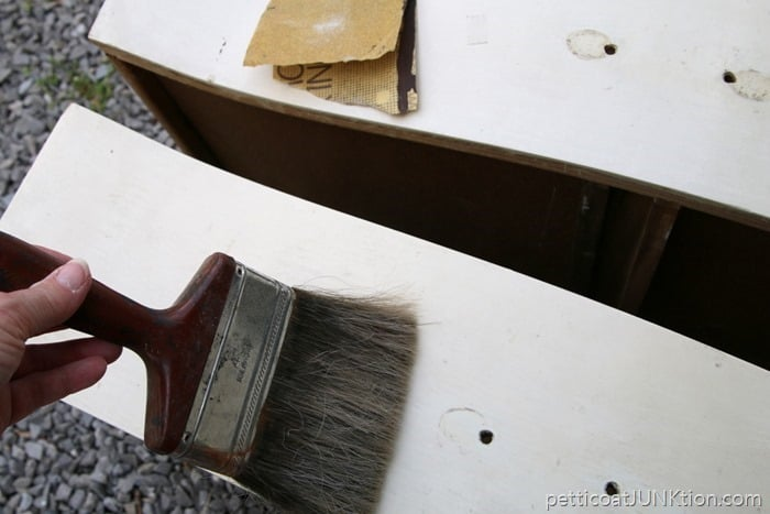 sanding and prepping furniture for painting