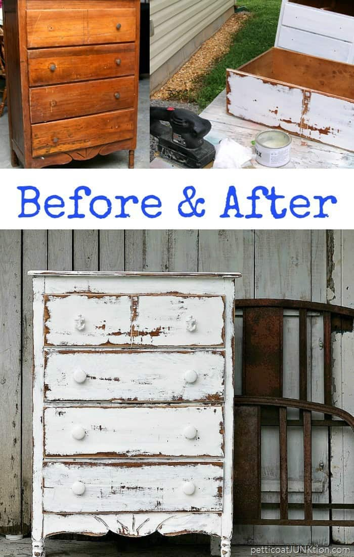 shabby chic coastal furniture with white distressed paint finish 1